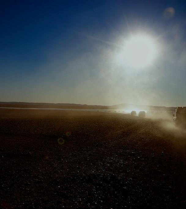 coucher de soleil lac maroc