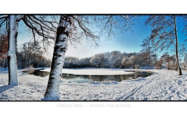 étang neige
